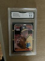 1987 Donruss Mark McGwire Rated Rookie Graded 8.5 NM-MT+
