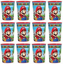 12x Super Mario Brothers Plastic Reusable Cups 16oz Reusable Keepsake Cups Party