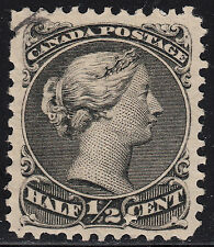 Canada 1/2c Small Queen, Scott 21, VF used BLINDS PERFS, catalogue - $100