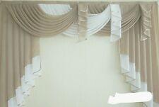Deko-Gardine, Vorhang , Querbehang, beige /weiss, 1,80 m breit