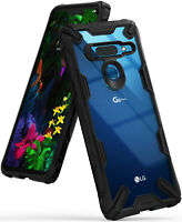 For LG G8 ThinQ | Ringke [Fusion-X] Hybrid Clear Shockproof Bumper Case Cover