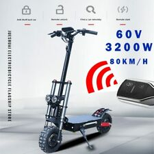 60V3200W Electric Scooter 11inch Motor Wheel Off Road Fat tire Dual Powerful E