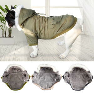 Winter Dog Clothes Down Jacket French Bulldog Dog Coat Pet Costume Warm Outwear