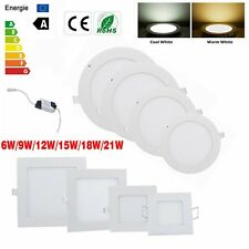 6W 9W 12W 15W 18W 21W Dimmable LED Recessed Ceiling Panel Down Light Bulb Lamp