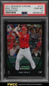 2011 Bowman Chrome Refractor Mike Trout ROOKIE RC #175 PSA 10 GEM MINT