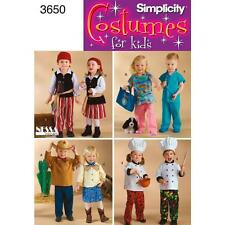 SIMPLICITY SEWING PATTERN TODDLERS COSTUMES  3650
