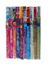 10 Paar Essstäbchen in Brokat Stoffbeutelchen Chopsticks Stäbchen Esstäbchen