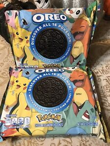 """Pokemon Oreos """"Limited Edition"""" Cookies 25th Anniversary 2 Packages Unopened"""