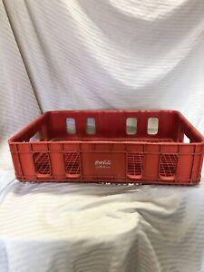 Vintage Huskylite Molded Plastic Coca-Cola Soda Pop Advertising Crate Coke Tray
