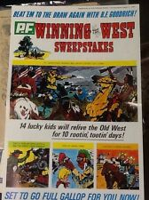 """1968 PF Flyers """"Winning the West"""" sweepstakes 4 page ad brochure w/premium prize"""