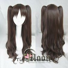 Halloween Wig Hair Cosplay Fate stay night Tohsaka Rin brown long party Wigs