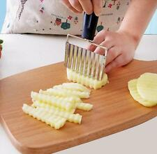 Cutter Crinkle French Potato Chip Wavy Blade Fry Cut Knife Tool Kitchen