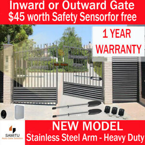 Automatic Electric Double Swing Gate Motor Opener 3 Remote Control safety sensor
