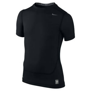 NWT Boys Youth Nike Pro Combat Dri-Fit Compression Shirt Black or White M-XL