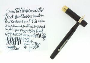 C1927 WATERMAN 52 1/2V XF-BBB 1.91MM FLEX NIB FOUNTAIN PEN RESTORED NO RESERVE