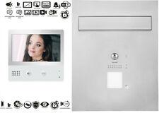 WiFi Briefkasten Videosprechanlage Edelstahl 170°Fischaugenkamera Bildspeicher