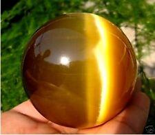 60MM + STAND Beautiful ASIAN QUARTZ TIGER EYE CRYSTAL HEALING BALL SPHERE