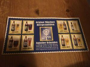 Augustiner Bräustuben Postkarte mit Bierspezialitäten