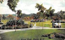 Elmira New York~Brand Park~Victorian Ladies on Bench~Lil Girl~1908 Postcard