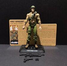 G.I. Joe 25th Sergeant Duke V23 From Battle Pack 100% Complete w/ File Card