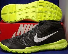 Womens Nike Flyknit Trainer Chukka FSB Black Volt USA SZ 6 ( 624975-001 )