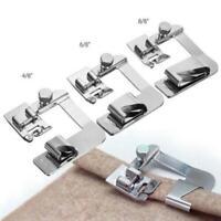 1 / 3Pcs Stainless Steel Sewing Machine Foot Presser Feet Hem Rolled S4U7