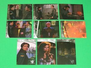 1998 BABYLON 5 SEASON 5 COMPLETE THE RIVER OF SOULS INSERT 9 CARD SET SKYBOX!