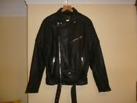 Mens All Saints Boyson black leather Biker jacket size Small New 38 chest