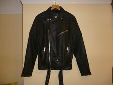 Mens All Saints Boyson leather Biker jacket size Small New 38 chest