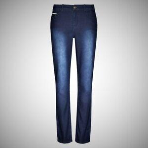 Ladies Distressed Blue Jeans Trousers Joggers New Stretch Denim Cotton Plus Size