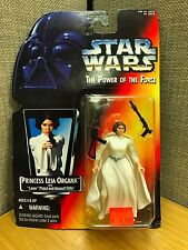 Star Wars Power of the Force: Princess Leia Organa  Red/Yellow Card Kenner 1995