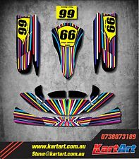 Tony Kart OTK M4 full custom KART ART sticker kit VIVID STYLE / graphics