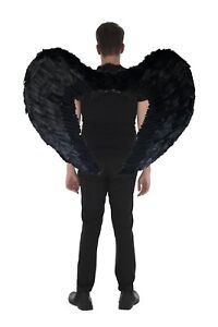 Zac's Alter Ego 100 x 75cm Very Large Halloween Dark Fallen Angel Feather Wings