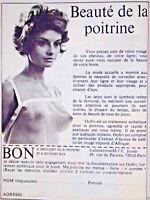 PUBLICITÉ PRESSE 1978 BEAUTÉ DE LA POITRINE OUFIRI TRAITEMENT ESTHÉTIQUE - SEINS