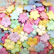 50 Mixed Pastel Color Flowers mulberry paper for Craft & D.I.Y #01