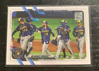 Milwaukee Brewers Team Card Keston Hiura 2021 Topps Series 1 #59