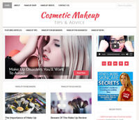 *COSMETIC MAKEUP TIPS * turnkey website business for sale w/ AUTOMATIC CONTENT