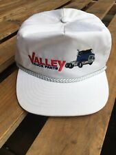 Valley Truck Parts White Hat Snapback