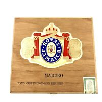 Royal Jamaica Empty Wood Cigar Box Maduro Hand Made In Dominican Republic 6x6 In