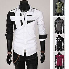 Cotton Unbranded Slim No Casual Shirts & Tops for Men