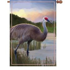 Premier Kite's  House Flag- Sandhill Crane    28x40 in. FreeShip