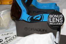 Dragon Alliance NFX Ski snowboard Goggles adult blue/amber/yellow NEW Dragon
