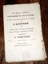 Valses galop sur l'Invitation à la danse de Weber flûte violon cor 1835 Küffner