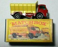 VINTAGE ORIGINAL BOX 1970 LESNEY MATCHBOX #70 FORD GRIT - SPREADING TRUCK - RED