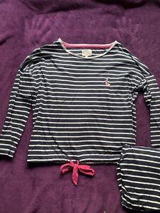 UK 8-10 Brand New With Tags! Next Ladies Grey Striped Pyjamas Small