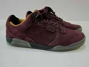 Supra Purple Yellow Suede Leather Lace Up Skateboard Sneaker Shoe Men Size 10.5