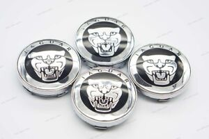 4x 60mm Car Hubcaps Wheel Center Covers Hub Caps Styling Logo For JAGUAR