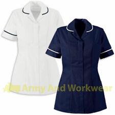 Ladies Plain Tunics Shirts Healthcare Nurses Beautician Uniform Vet Housekeeper