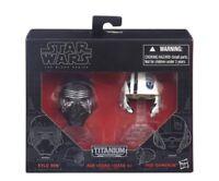 Star Wars Black Series Titanium Helmets 01 Kylo Ren Poe Dameron