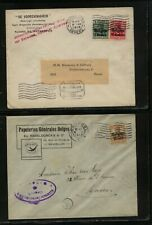 Belgium  Geman occupation 2 ad covers,  1916,  1917      MS0307